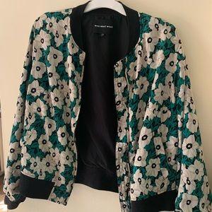 Plus floral bomber jacket